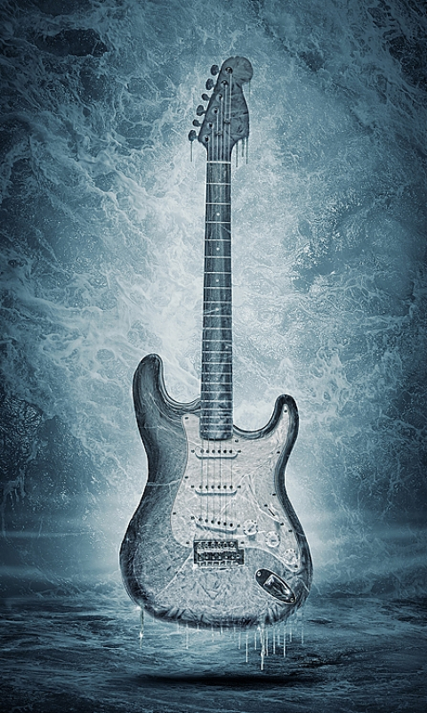 frozen guitar